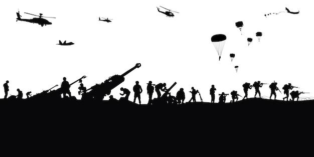 Illustration militaire, fond de l'armée.