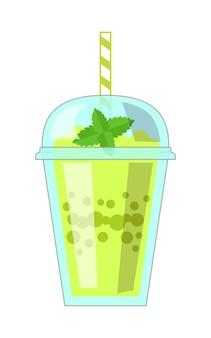 Illustration De Milkshake Vecteur Premium
