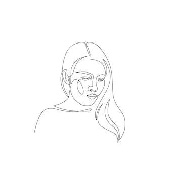 Illustration minimale de femme dessinée à la main. dessin de style à une ligne