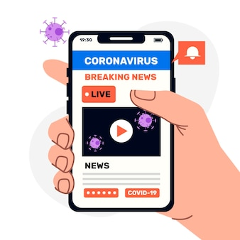 Illustration de la mise à jour du coronavirus