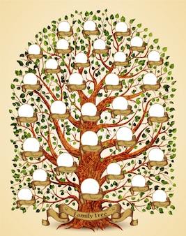Illustration de modèle d'arbre généalogique