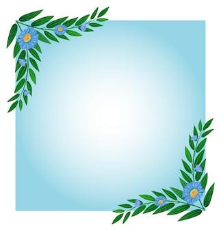 Illustration d'un modèle avec des bordures vertes et bleues sur fond blanc