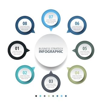 Illustration de modèle de conception d'entreprise infographie de base