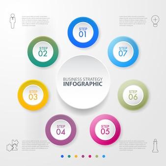 Illustration de modèle de conception entreprise infographie. vecteur eps10.