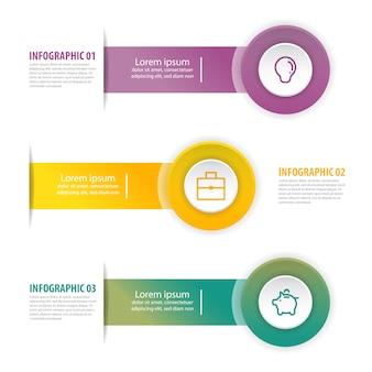 Illustration de modèle de conception entreprise infographie.