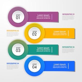 Illustration de modèle de conception infographie métier