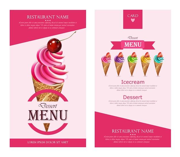 Illustration de modèle de crème glacée