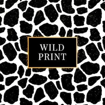Illustration de modèle dalmatien girafe sans soudure