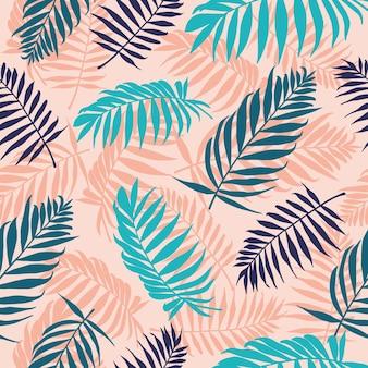 Illustration de modèle de feuilles de palmier