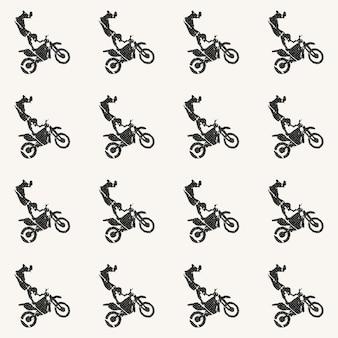 Illustration de modèle homme moto et motards. image de style créatif et sportif