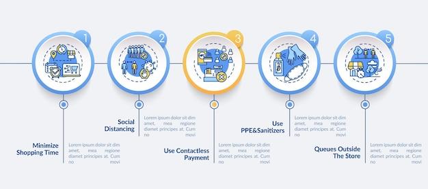 Illustration de modèle infographique de sécurité publique