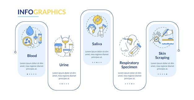 Illustration de modèle infographique de spécimens de laboratoire