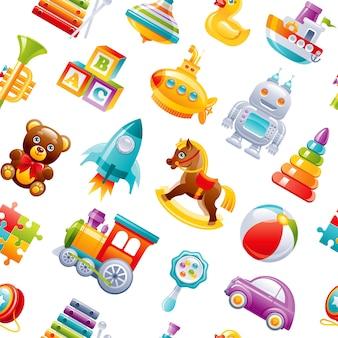 Illustration de modèle de jouets de dessin animé