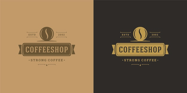 Illustration de modèle de logo de café