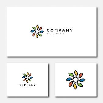 Illustration de modèle de logo de fleur