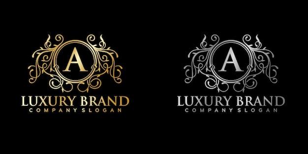 Illustration de modèle de logo de luxe élégant