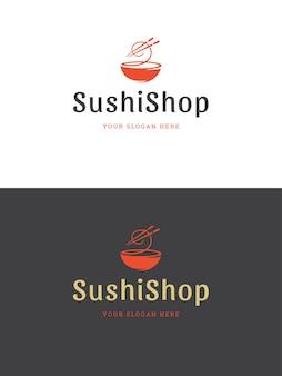 Illustration de modèle de logo de restaurant de sushi