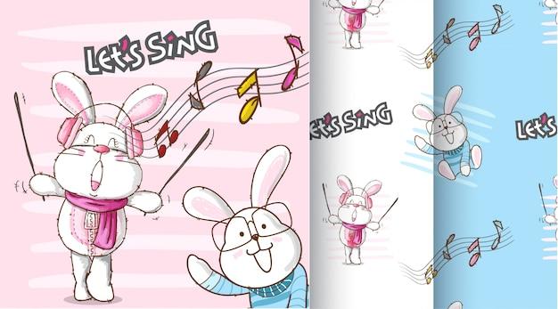 Illustration de modèle mignon de lapin