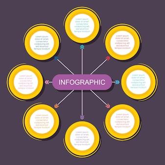 Illustration de modèle d'options infographiques