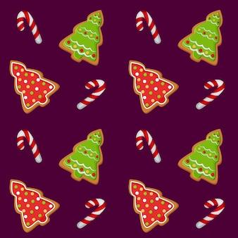 Illustration de modèle avec une photo de biscuits de noël