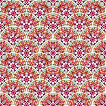 Illustration de modèle sans couture de mandala coloré