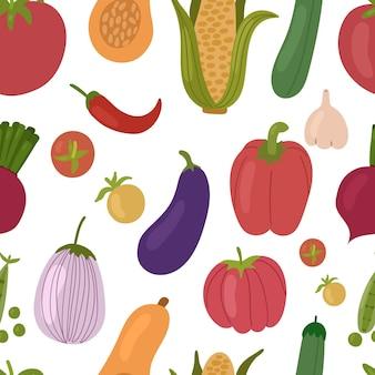 Illustration de modèle sans couture végétarienne