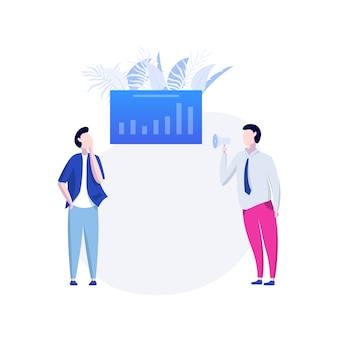Illustration moderne d'analyse de données