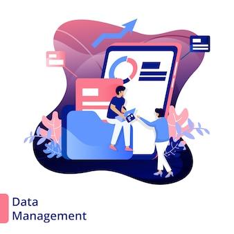 Illustration moderne de la gestion des données