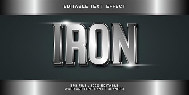 Illustration modifiable d'effet de texte de fer