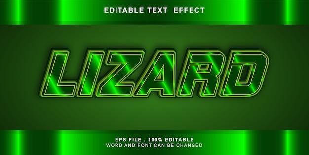 Illustration modifiable d'effet de texte de lézard