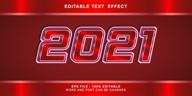 Illustration modifiable d'effet de texte