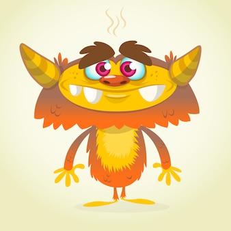 Illustration de monstre drôle de dessin animé