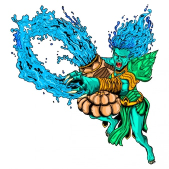 Illustration de monstre du verseau