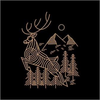 Illustration de montagne de cerf