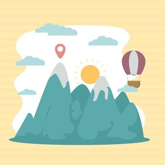Illustration des montagnes des alpes