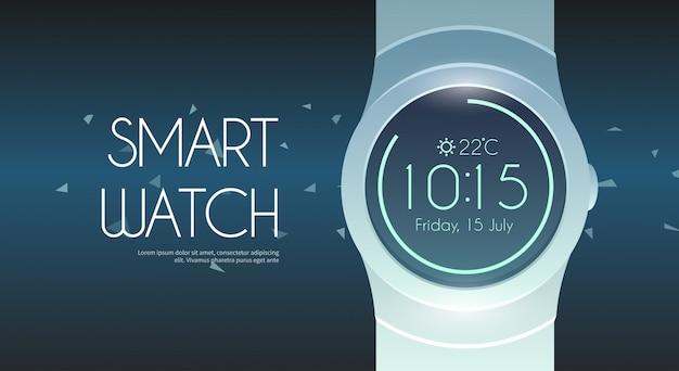 Illustration de la montre intelligente