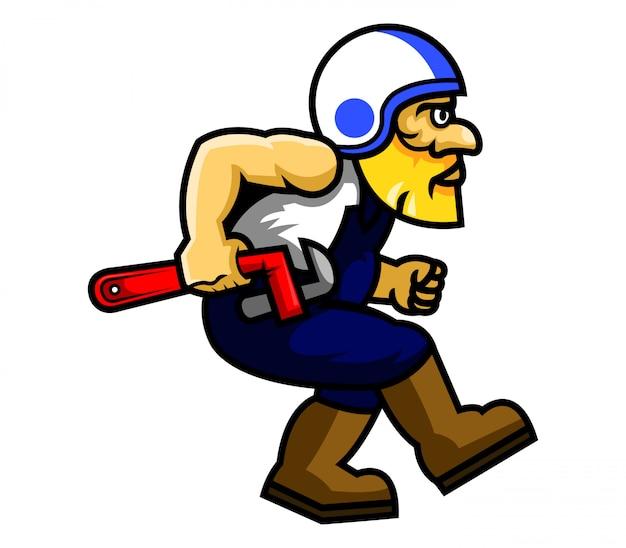 Illustration de motard aller réparer