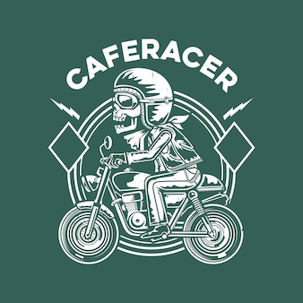 Illustration de motard de crâne