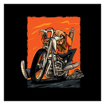 Illustration de motards chopper