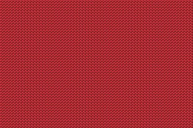 Illustration de motif tricoté rouge de noël