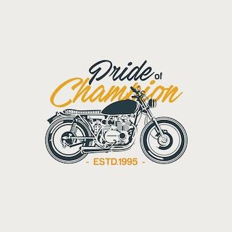 Illustration de moto classique