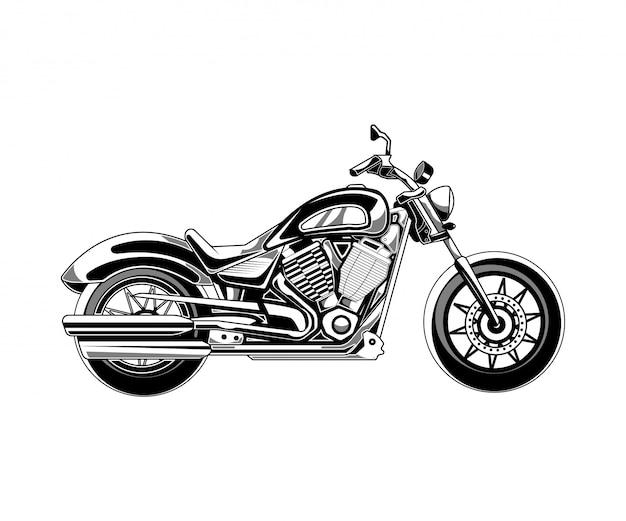 Illustration de moto isolée