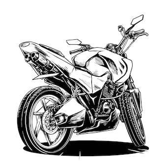 Illustration de moto de modification