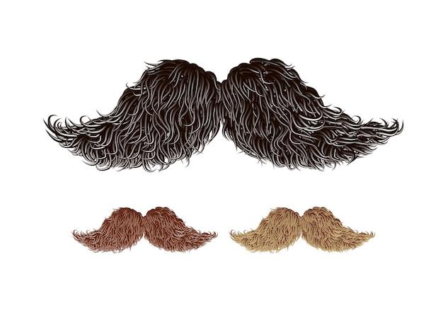 Illustration de moustache de style ancien