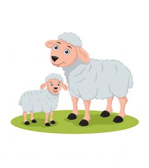 Illustration de moutons et d'agneaux