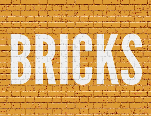 Illustration de mur grunge avec des briques