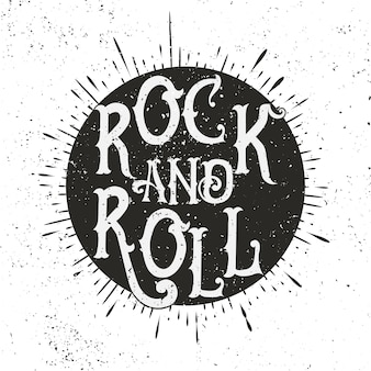 Illustration de musique rock monochrome