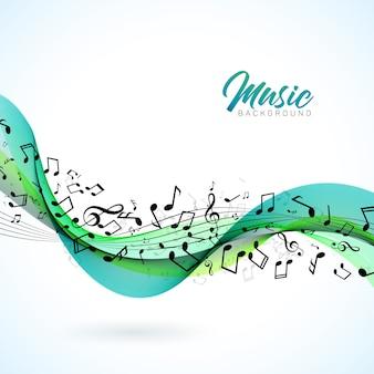 Illustration de musique vector avec des notes de chute