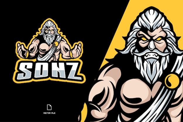 Illustration de mythologi logo mascotte zeus