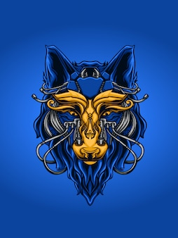 Illustration de mytichal mecha wolf